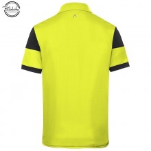 ROPA DE PADEL HEAD POLO ACE NEGRO AMARILLO