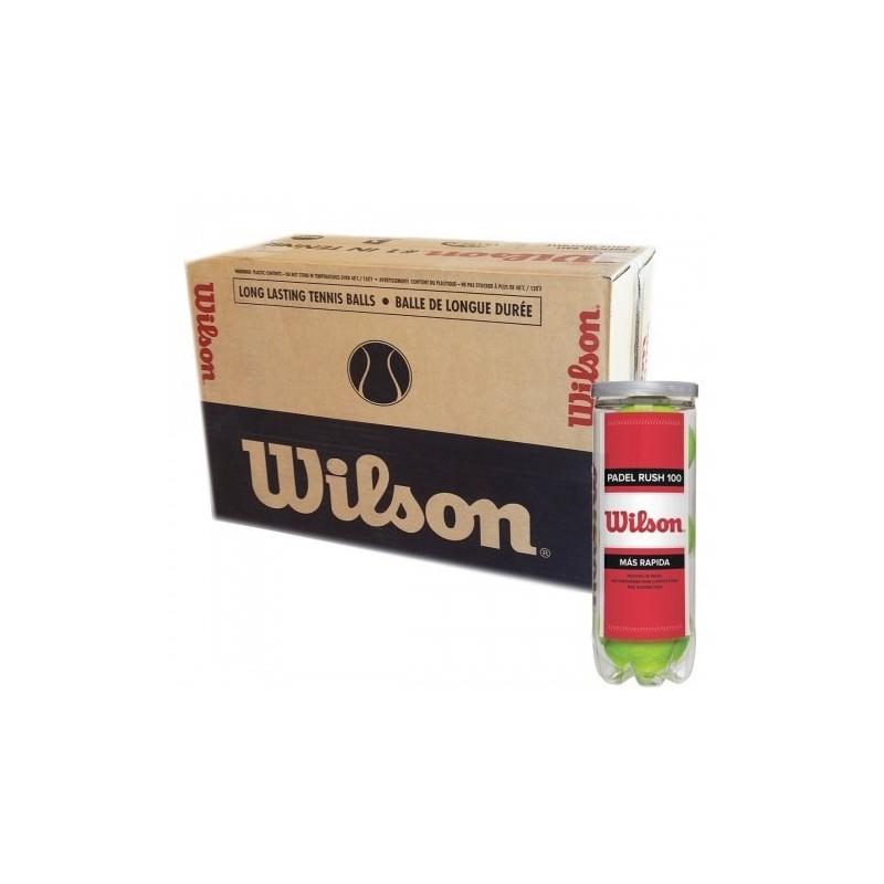 CAJON 72 PELOTAS DE PADEL WILSON - 24 BOTES DE 3 UNIDADES- RUSH 100