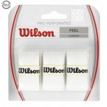 BLISTER WILSON 3 OVERGRIPS PRO PERFORADO BLANCO
