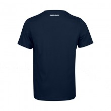Camiseta Algodon Head Padel Azul Oscuro