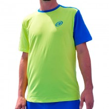 Camiseta Bullpadel Challenger Amarillo Limon Fluor Azul Real