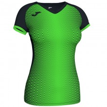 Camiseta Joma Supernova Negro Verde Fluor Mujer