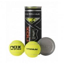 Bote de 3 pelotas Nox Pro Titanium