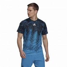 Camiseta Adidas FreeLift Printed PrimeBlue Sonic Aqua