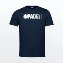 Camiseta Head Padel Font Azul Oscuro