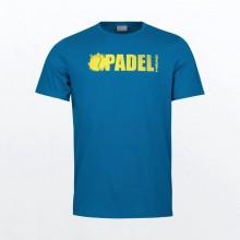 Camiseta Head Padel Font Azul