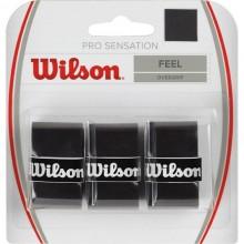 BLISTER WILSON 3 OVERGRIPS SENSATION NEGRO